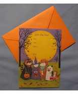Papyrus Halloween Party animals set 10 informal Invitation whimsical car... - $7.77