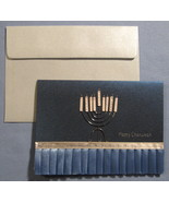 Papyrus Chanukah Holiday Greeting Cards blue ribbon handmade 8 boxed Men... - $17.77