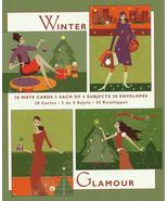 Marcel Schurman Christmas holiday 20 greeting cards Winter Glamour 4 des... - $14.77