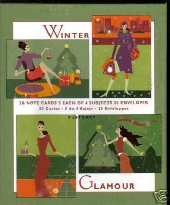 Marcel Schurman Christmas holiday 20 greeting cards Winter Glamour 4 designs E