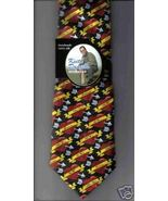 Keith Daniels Valentine's Day  Neck Tie HEARTS silk black red novelty ne... - $12.77