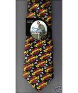 Keith Daniels Valentine's Day  Neck Tie HEARTS silk black red novelty ne... - $19.77