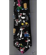 Looney Tunes Neck Tie Fathers Day Sylvester Cat Tweety dress business ca... - $14.77