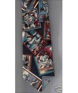 Van Heusen 417 Neck Tie vintage Baseball Cards black silk casual novelty... - $12.77