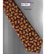 Etoile Tweety Bird novelty cartoon Neck Tie burgundy yellow - $14.77