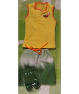 Barbie Ken doll 2003 Fashion Avenue casual yellow shirt green shorts san... - $14.77