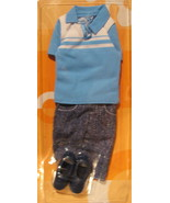Barbie Ken doll 2003 Fashion Avenue casual blue shirt denim shorts shoes H2 - $14.77