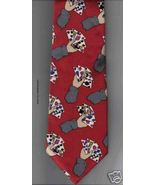 Perry Ellis Necktie Silk Gamblers Poker Hand red novelty playing cards N... - $17.77