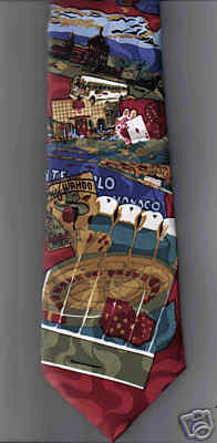 Wembley Starshine Gamblers novelty Neck Tie Casino club sites cards dice