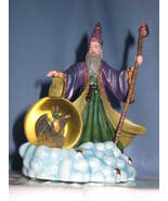 Heritage House Collectible Wizard Statue magical Merlin globe figurine H12 - $21.77