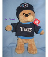 Tennessee Titans football logo Brown plush boy fan doll Bear toy mascot H5 - $21.77