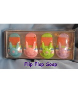 Papyrus Hand Soap box set 4 flip flop thong beach shoes colorful guest g... - $17.77