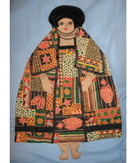 African fabric Lady Pajama bed Pillow Doll handcrafted USA ethnic handma... - $47.77