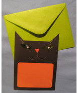 Papyrus Halloween Party black orange cat 10 blank Invitation cards inkje... - $7.77