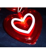 Heart Garland set  20 red white Lights party patio prom mantle porch  We... - $24.77