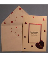 Hallmark Valentine's Day portrait 8 Greeting Cards photo red hearts lined F - $9.77