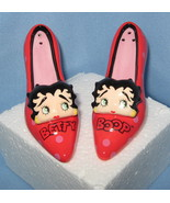 Betty Boop face Red High Heel Shoes pumps set 2 Salt Pepper Shakers H3 - $21.77
