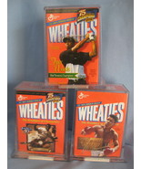 Wheaties Jackie Robinson Muhammad Ali Tiger Woods  3 mini  Cereal Box se... - $77.77
