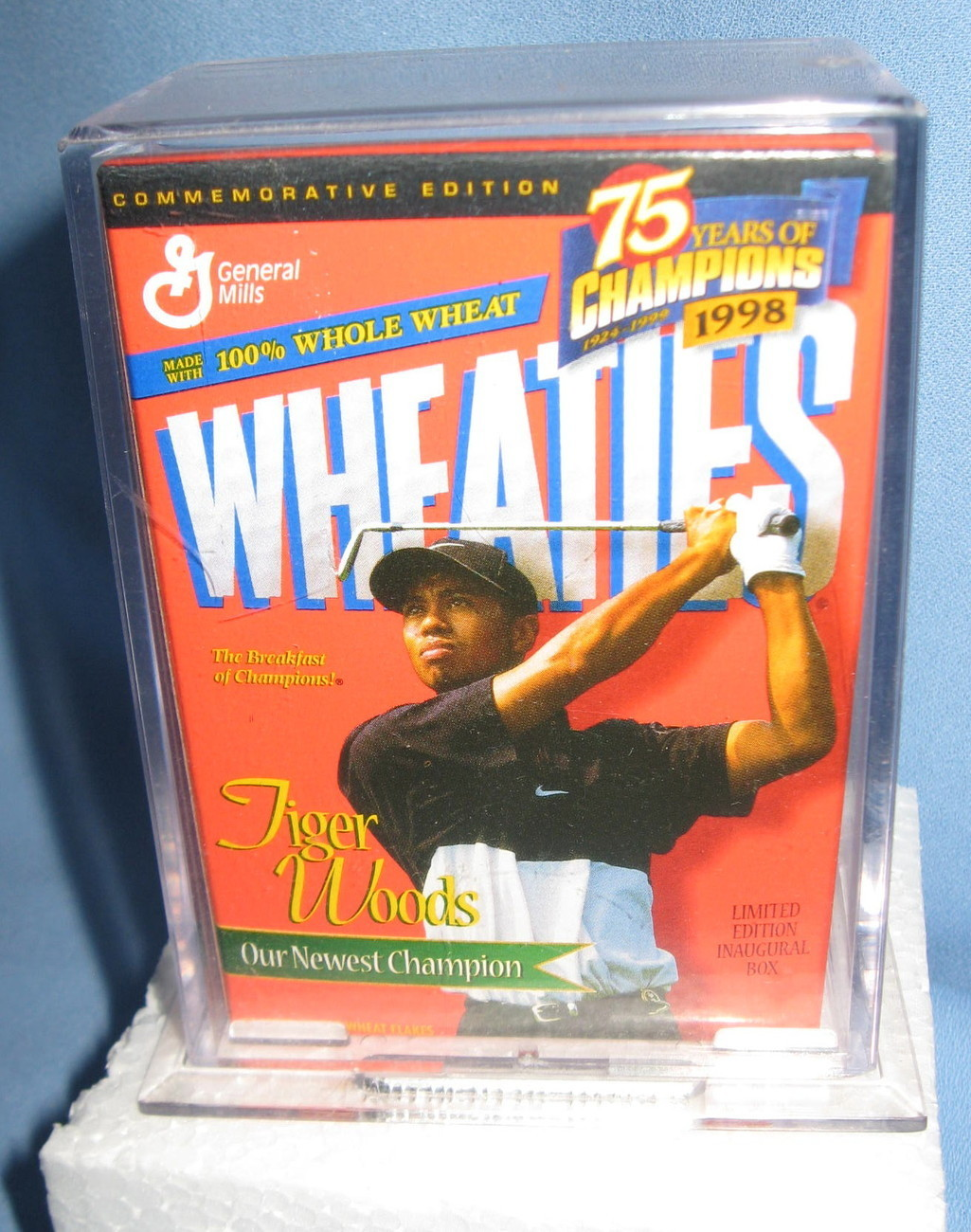 Wheaties Jackie Robinson Muhammad Ali Tiger Woods mini Cereal Box sealed H8