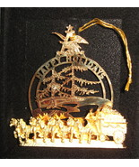 Budweiser Beer Clydesdale Horses 24K plate metal Tree package Ornament H3 - $24.77