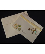 Marcel Schurman Baby Shower Gift Thank You Cards 6 Ivory ribbon charms G - $21.77