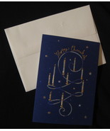 Papyrus Happy Chanukah Holiday set 8 greeting note Cards elegant candles... - $17.77