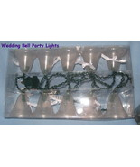 Wedding Bell Garland 20 white lights mantle party porch yard  patio prom H2 - $29.77