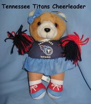 Tennessee Titans logo Brown plush girl doll Bear Football blue Cheerlead... - $21.77