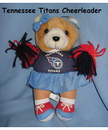 Tennessee Titans logo Brown plush girl doll Bear Football blue Cheerlead... - $21.77