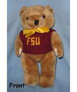 FSU Florida State University football  brown plush doll Bear mascot  log... - $19.77