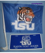 TSU Tennessee State University Tigers Flag License frame Plate tag Alumn... - $29.77