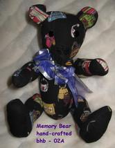 Black Teddy Bear handcrafted USA fabric Handbags Purses handmade origina... - $77.77