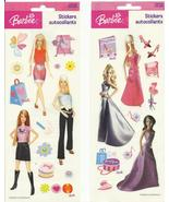Barbie fashion Stickers 2004 acid free memory scrapbook craft  2 packages - $7.77