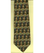 Gilda's Club Necktie green brown Cancer Radnor ... - $17.77