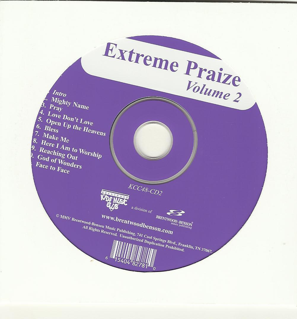 Extreme Praize 2004 Brad Bose sheet music CD book Choir song