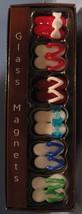 Papyrus Glass Magnets set 6 refrigerator flip flop thong beach shoes bri... - $9.77