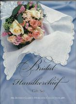 Bridal Handkerchief Gift Set 2000 Beverly Clark linen lace hankie Weddin... - $19.77