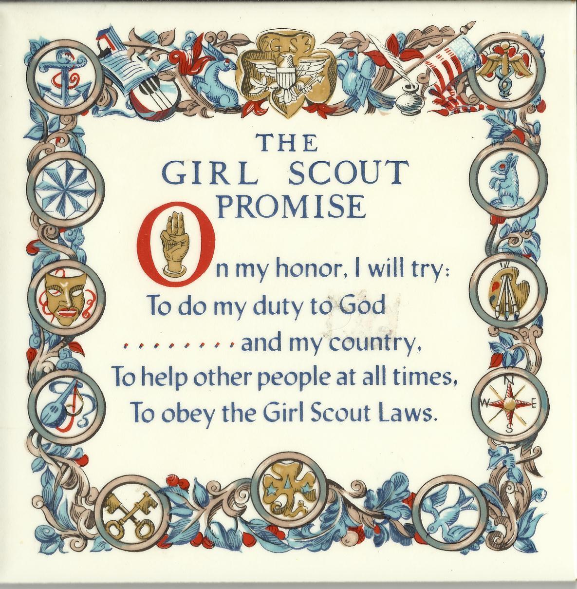 Girl scout promise trivet