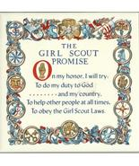 Girl Scout Promise Trivet Tile ceramic hot pad wall hanging desk cork de... - $17.77