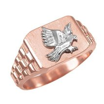 14K Rose Gold American Eagle Men's Ring (size 7.75) - $349.99