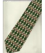 Warner Bros Taz novelty Neck Tie necktie Tasmanian Devil green beige sil... - $14.77