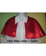 Choir Robe Collar 9 Red child cape USA Handcrafted theater community sch... - $37.77