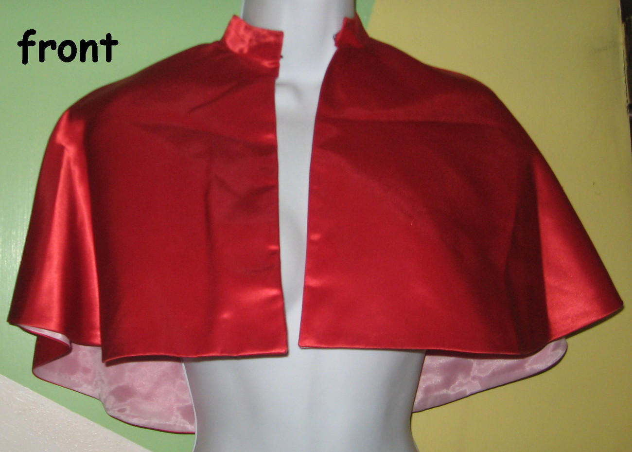 Choir Robe Collar 9 Red child cape USA Handcrafted theater community school H17A