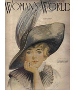 Woman's World Chicago Magazine Nov 1913 Jacoby cover vintage hat society... - $17.77