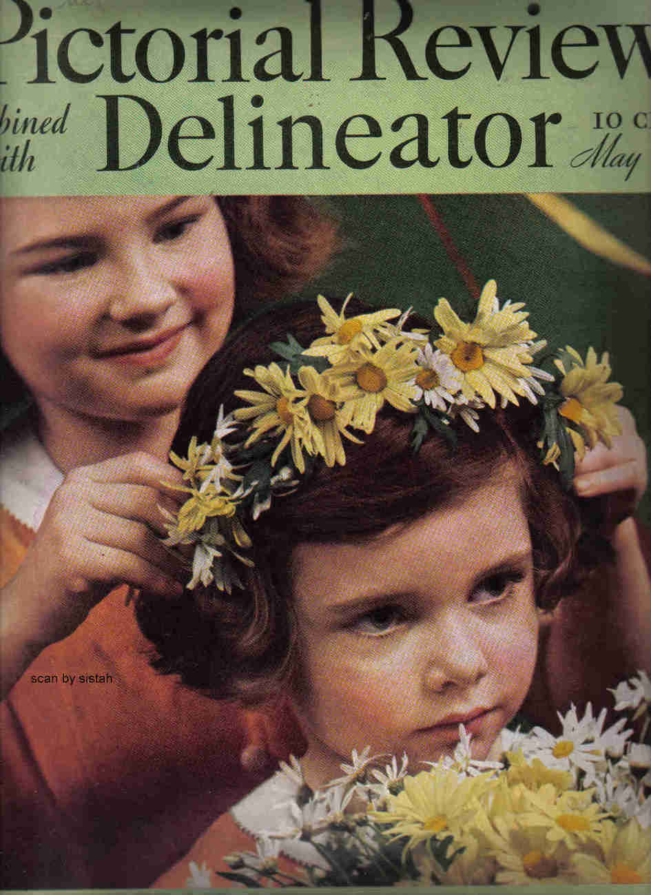 Delineator Pictorial Review Magazine May 1937 cover vintage art  Anton Bruehl