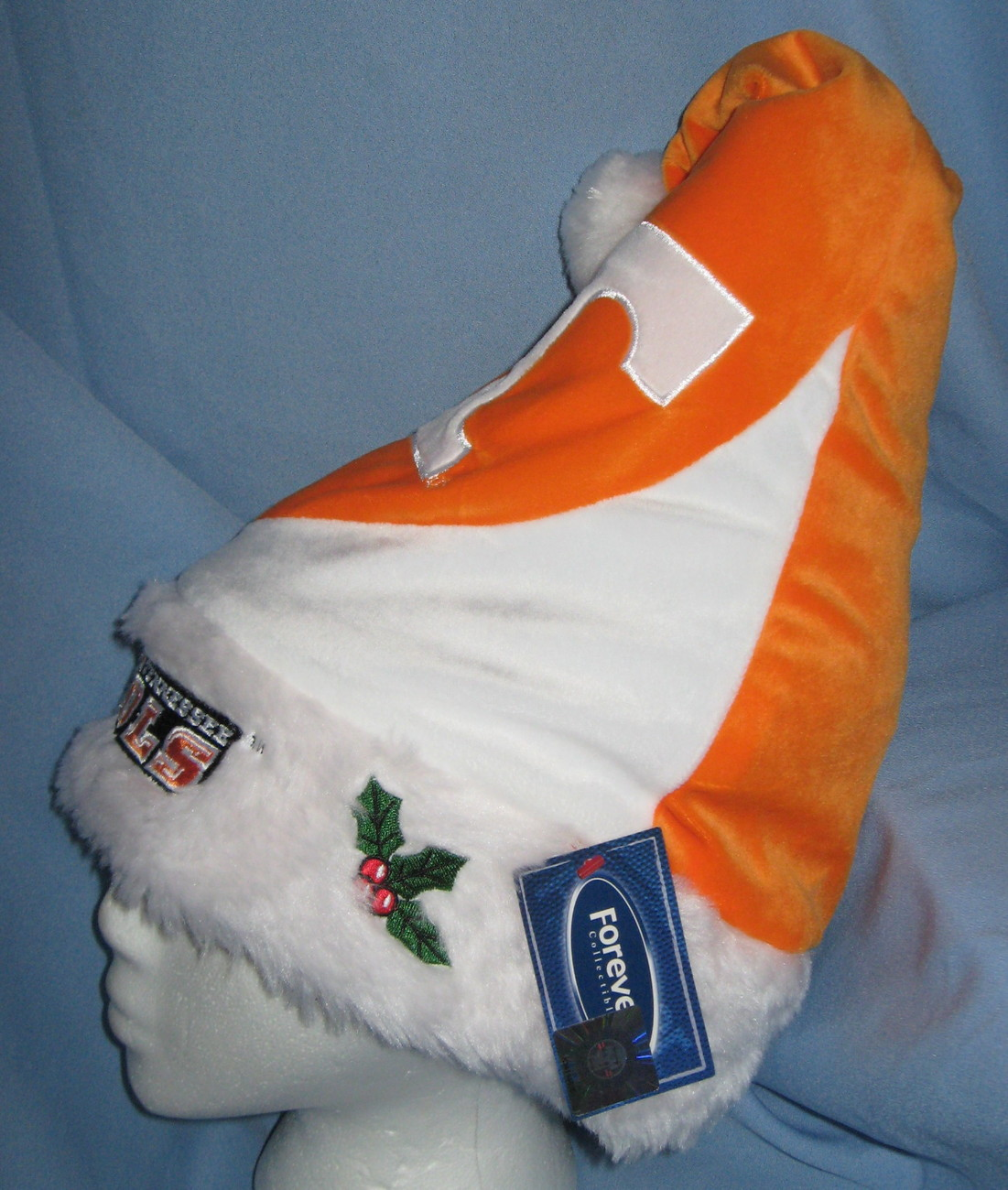 University Tennessee Vols school logo Christmas Hat orange white velvet  H19