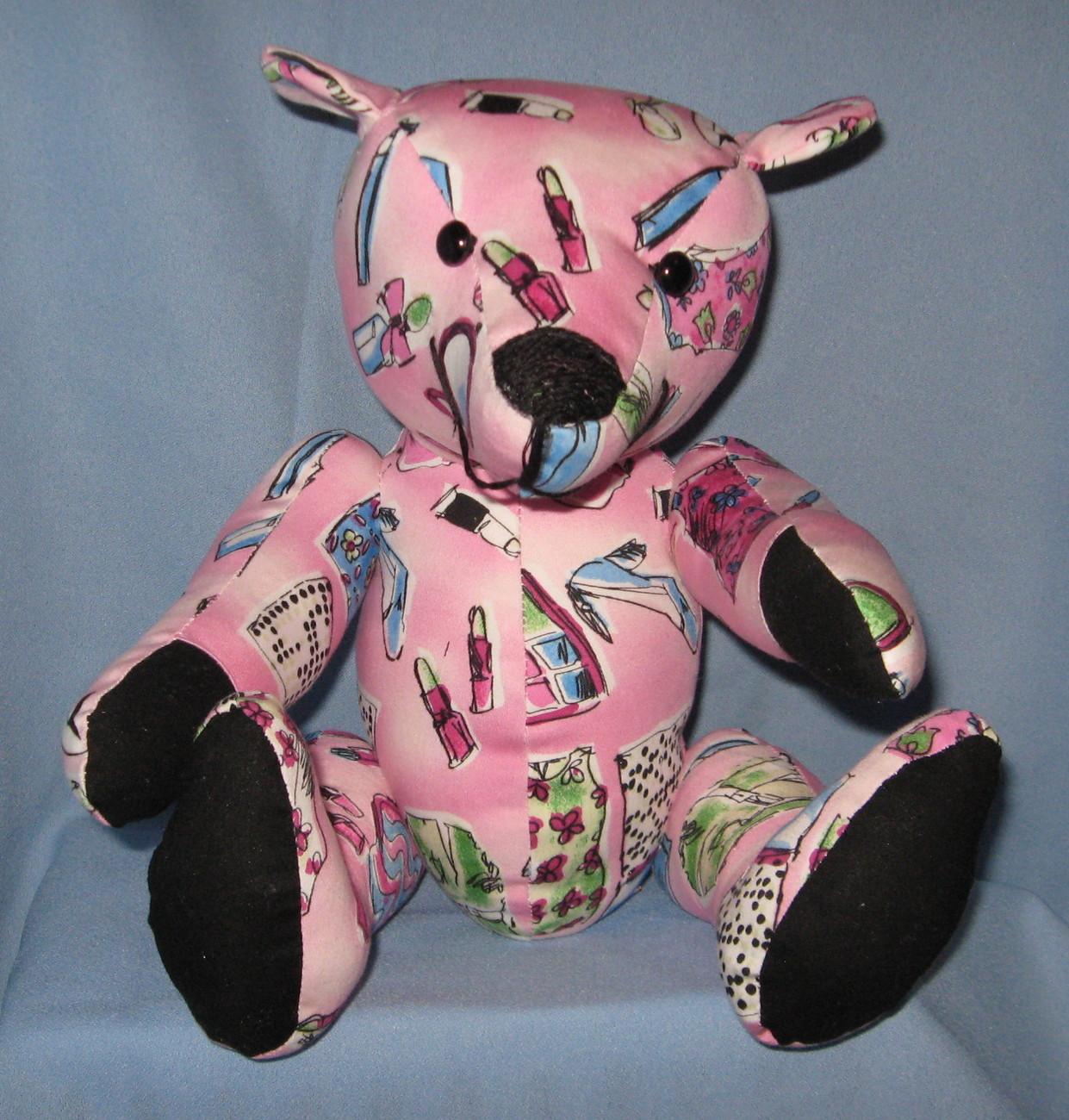Pink handmade bear