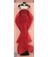 Fashion Diva Doll red silver Evening Gown Dress mannequin barbie bling H14 - $14.77