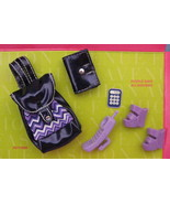 Mattel Barbie Fashion Avenue Doll Accessories 1999 purple black Purse Sh... - $14.77