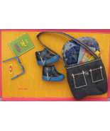 Mattel Barbie Fashion Avenue Doll Accessories 1999 blue Purse Shoes hike... - $14.77